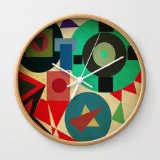 geometric mess Wall Clock