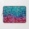 THINK TEAL AND PINK Laptop Sleeve