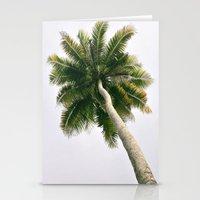Foggy Palm Tree Stationery Cards