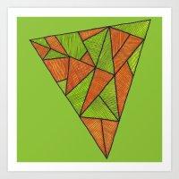 Orange loves green Art Print