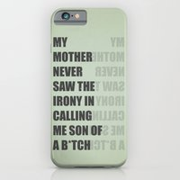 iPhone & iPod Case featuring Son of a B*TCH by filiskun