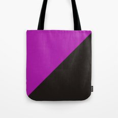 purple anarchy flag feminism symbol Tote Bag