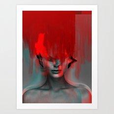 Red Head Woman Art Print