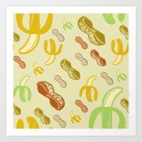 Banana & Peanut Butter Art Print