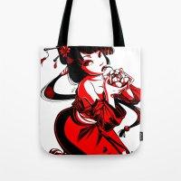 Geisha Design Tote Bag