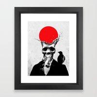 SPLASH SKULL Framed Art Print