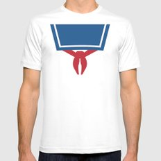 Ghostbusters Minimal Poster 01 SMALL White Mens Fitted Tee