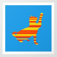 Cat Stripes Art Print