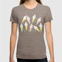 Ice Cream Cones Womens Fitted Tee Tri-Coffee SMALL
