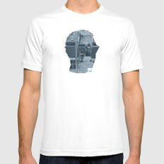 Poster Face #1 White SMALL Mens Fitted Tee
