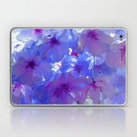 Blue Cherry Blossoms Laptop & iPad Skin