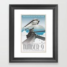 Grim Fandango Vintage Travel Posters - The Number Nine Framed Art Print