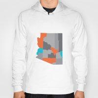 Arizona State Map Print Hoody