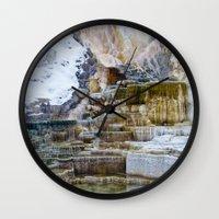 Yellowstone Hot Springs Wall Clock