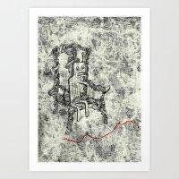 Relaxed Monster Art Print