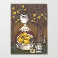 Portrait Of An Apple Orc… Canvas Print