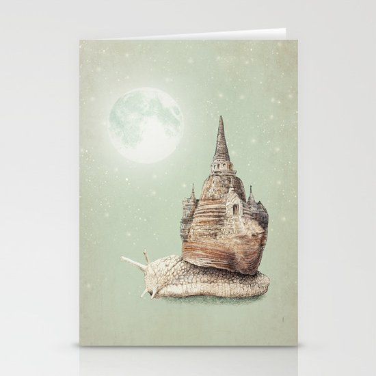 The Snail's Dream Stationery Card