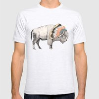 White Bison Mens Fitted Tee Ash Grey SMALL
