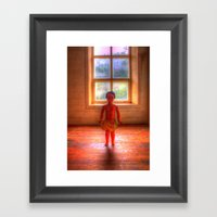Doll Window Framed Art Print
