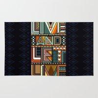 LIVE & LET LIVE Rug