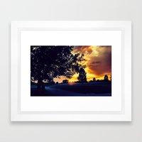 Sunset: City Park, Denver Framed Art Print