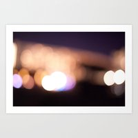 Beach Lights Art Print
