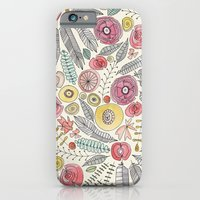 feather fleur watercolor iPhone 6 Slim Case