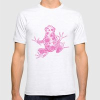 Little Frog Magenta Mens Fitted Tee Ash Grey SMALL