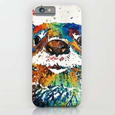 Otter Art - Ottertude - By Sharon Cummings iPhone 6 Slim Case