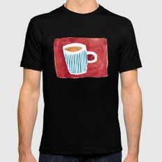 Coffee SMALL Mens Fitted Tee Black