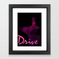 Ryan Gosling in Drive Framed Art Print
