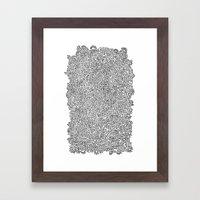 Shapes Doodle Framed Art Print