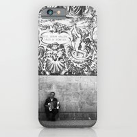 iPhone & iPod Case featuring street musician by Alexandre M. Ferreira