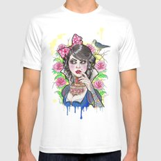 Snow White White SMALL Mens Fitted Tee