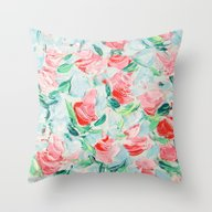 Throw Pillow featuring Pompidou Rose Garden by Ann Marie Coolick