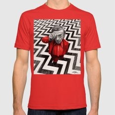 Homage To Twin Peaks - F… Mens Fitted Tee Red SMALL
