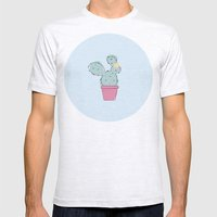 Cactus Mens Fitted Tee Ash Grey SMALL