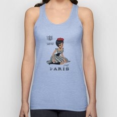 french girl  Unisex Tank Top