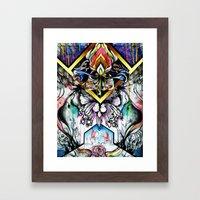 Axis Dahlia Framed Art Print