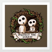 Save Kodamas V2 Art Print