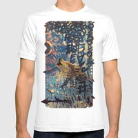 THE WOLF HOWLED AT THE S… Mens Fitted Tee White SMALL
