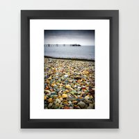 Llandudno Rocks Framed Art Print