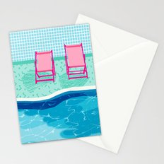 Vay-K - abstract memphis throwback poolside swim team palm springs vacation socal pool hang  Stationery Cards