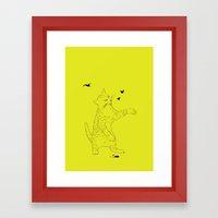 THE EVIL CAT Framed Art Print