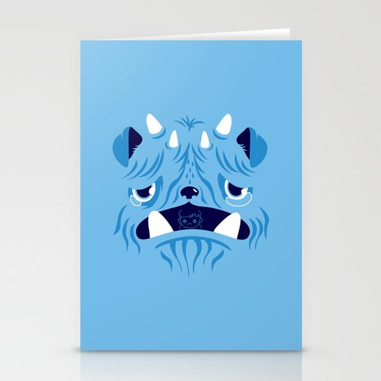 The Bluest Monster Ever :(( Stationery Card