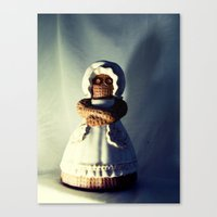 Menacing Ceramic/Burlap Horror Doll Canvas Print