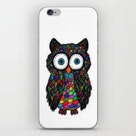 Colour Owl iPhone & iPod Skin