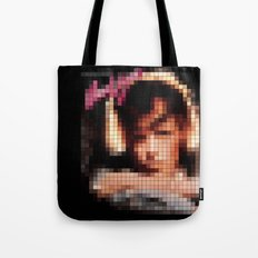 Bowie : Young Americans Pixel Album Cover Tote Bag