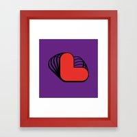 L Like L Framed Art Print