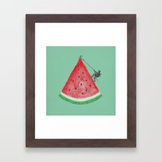 Summer Climb Framed Art Print